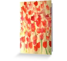 Field of Roses Greeting Card