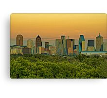 Dallas Sunset HDR & Topaz Filter Canvas Print