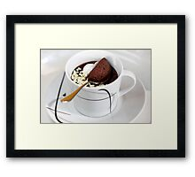 Cardamom-Coffee-Cup of Mousse Framed Print