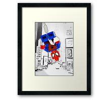 Lego Spiderman (without border) Framed Print