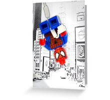 Lego Spiderman (without border) Greeting Card