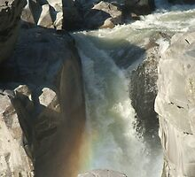 Granite Falls With Rainbow by Edith Farrell
