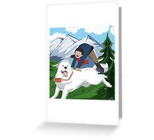 Belle et Sébastien  Greeting Card