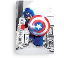Lego Captain America Canvas Print
