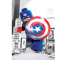 Lego Captain America Photographic Print