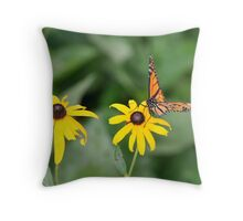 Butterfly landing home Throw Pillow