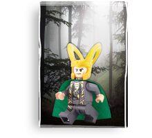 Lego Loki (with border) Canvas Print