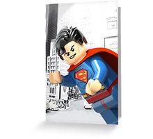 Lego Superman Greeting Card