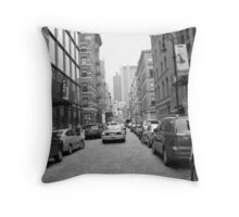 Greenwich Village Cobble Stone Streets Untouched. Throw Pillow