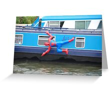 Spiderman Cleaning his Boat Greeting Card