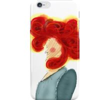 Red woman with dignity iPhone Case/Skin
