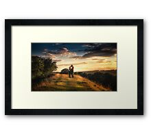 A Kiss At Sunset Framed Print