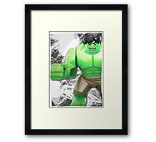 Lego Hulk (with border) Framed Print