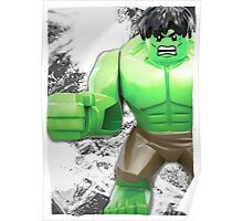 Lego Hulk (with border) Poster