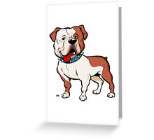 American bulldog cartoon dog Greeting Card