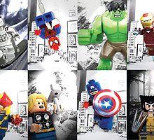 Lego Superheroes!! by steinbock