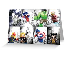 Lego Superheroes!! Greeting Card