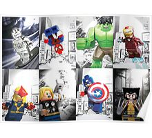 Lego Superheroes!! Poster
