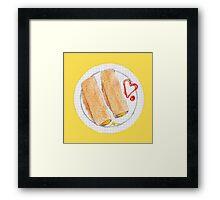Cheesy Oatcakes Framed Print
