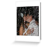 Wet Kiss Greeting Card