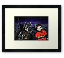 Lego Batman & Robin Framed Print