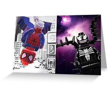 Lego Spiderman vs. Venom Greeting Card