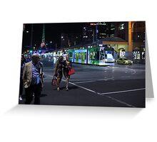 Night Stroll Greeting Card