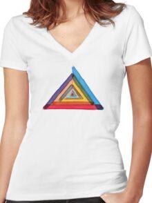 Colours of Illuminati Women's Fitted V-Neck T-Shirt