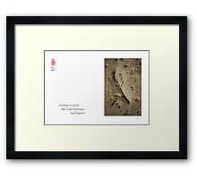 writing in sand Framed Print