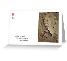 writing in sand Greeting Card