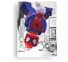 Lego spiderman ... here I come! Canvas Print