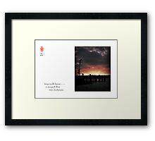 long walk home Framed Print