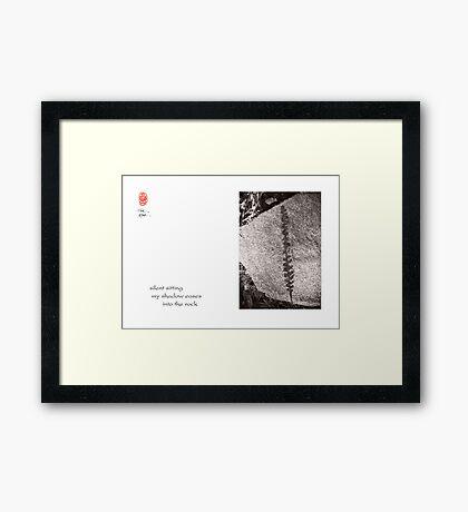 silent sitting Framed Print