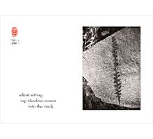 silent sitting Photographic Print