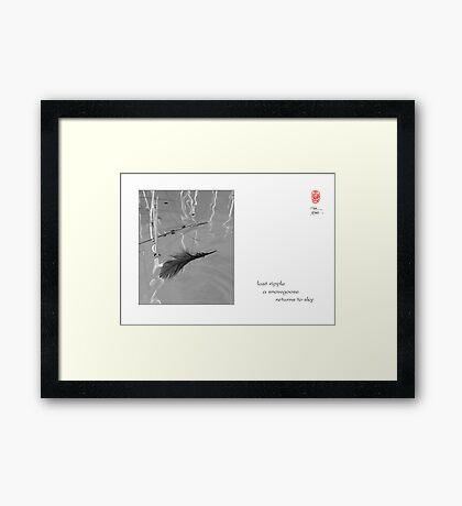 last ripple Framed Print
