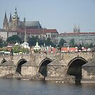 view of Charles bridge, Prague by chord0