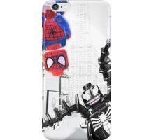 Lego Spiderman vs. Venom in the city (vert) iPhone Case/Skin