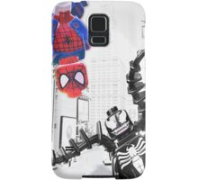 Lego Spiderman vs. Venom in the city (vert) Samsung Galaxy Case/Skin