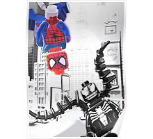 Lego Spiderman vs. Venom in the city (vert) Poster