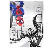 Lego Spiderman vs. Venom in the city (vert) Poster