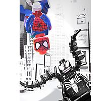 Lego Spiderman vs. Venom in the city (vert) Photographic Print