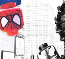 Lego Spiderman vs. venom in the city (with border) Sticker