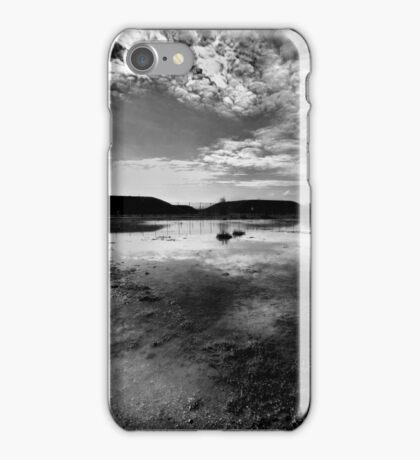 Greenham Common Missile Silos - Black and White iPhone Case/Skin