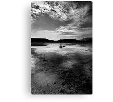 Greenham Common Missile Silos - Black and White Canvas Print