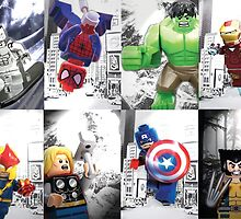 8 Lego Super Heroes! by steinbock