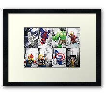 8 Lego Super Heroes! Framed Print