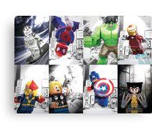 8 Lego Super Heroes! Canvas Print