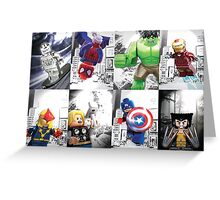 8 Lego Super Heroes! Greeting Card
