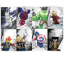 8 Lego Super Heroes! Poster