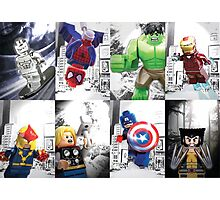 8 Lego Super Heroes! Photographic Print